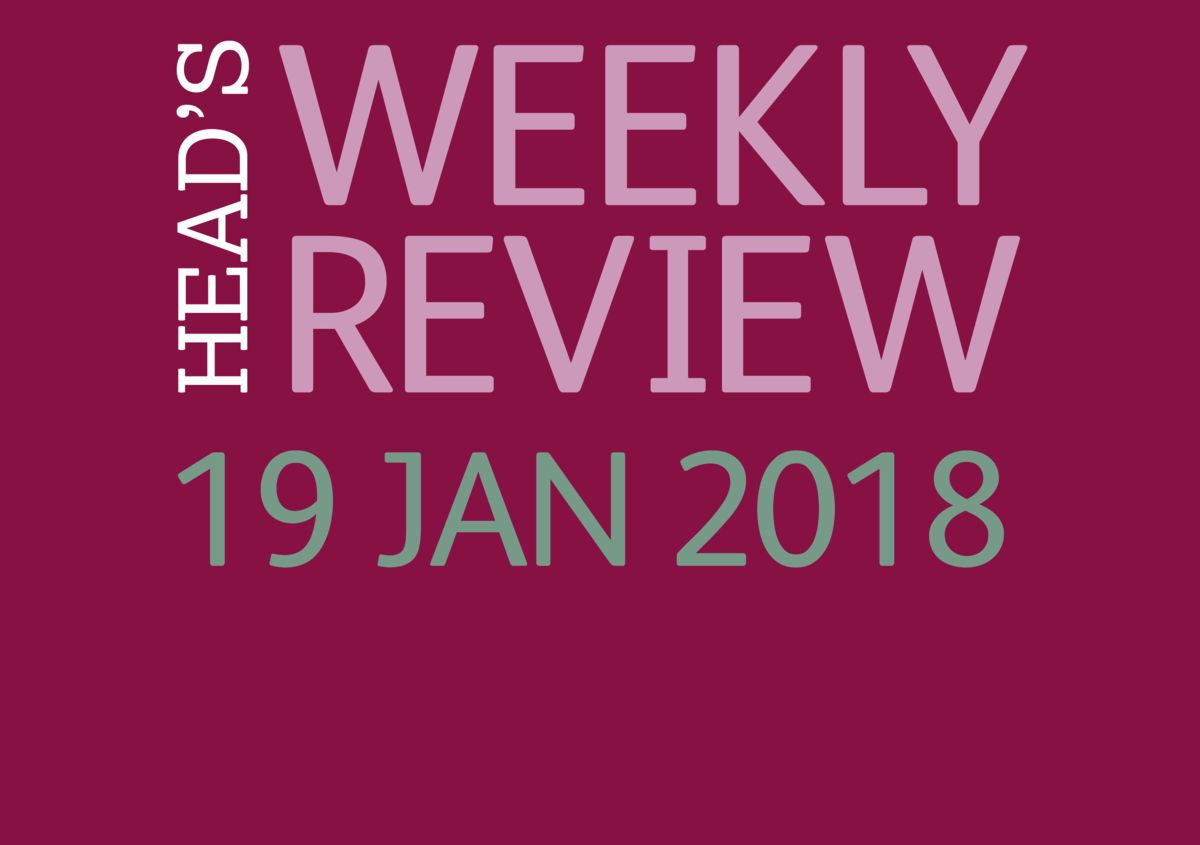 The Head's Weekly Review - Spring Issue 3