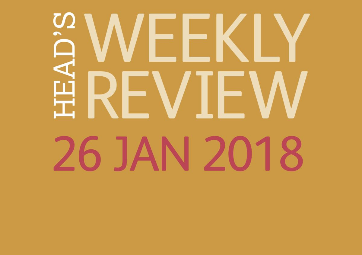 The Head's Weekly Review - Spring Issue 4