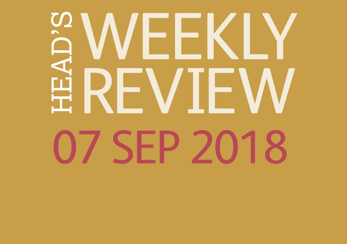 The Head's Weekly Review - Autumn Issue 2