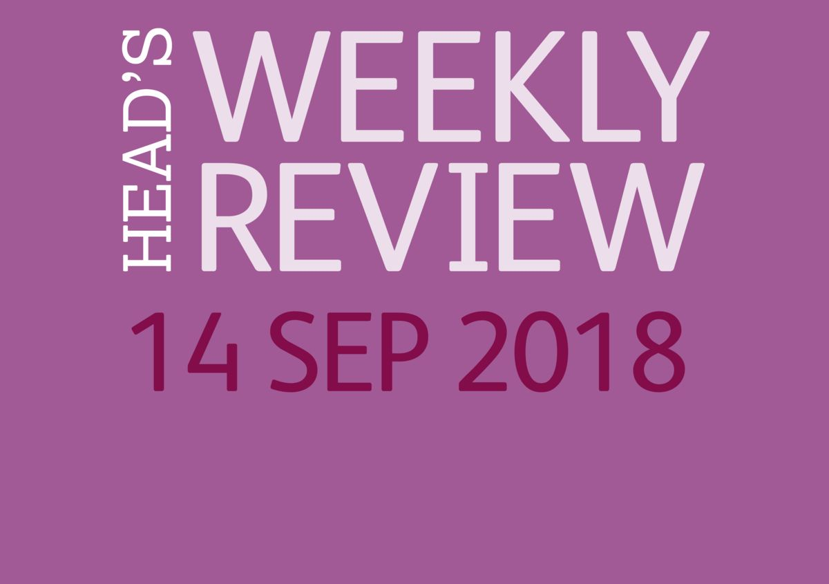 The Head's Weekly Review - Autumn Issue 3