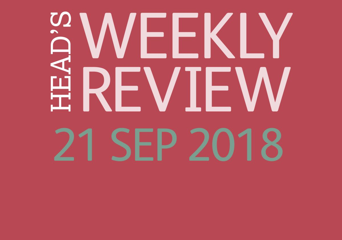 The Head's Weekly Review - Autumn Issue 4